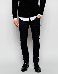 Asos Extreme Super Skinny Trousers Navy