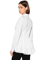 Antonio Berardi Ruffled Cotton Poplin Shirt