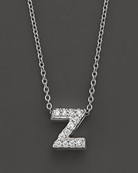 Roberto Coin 18K White Gold Love Letter Initial Pendant Necklace 16 Z