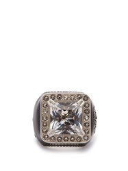 Gucci Crystal Embellished Signet Ring Crystal