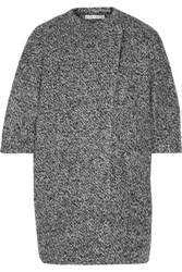 Alice Olivia Roy Marled Knitted Coat Gray