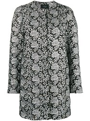 Giambattista Valli Embroidered Cardi Coat Metallic