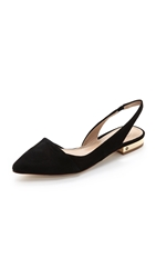 Tory Burch Pointed Toe Slingback Flats Black