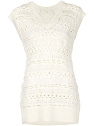 Thakoon Addition Crochet Tunic White