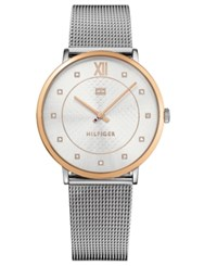Tommy Hilfiger Women's Sloane Stainless Steel Mesh Bracelet Watch 40Mm Silver