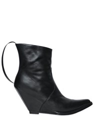 Unravel 100Mm Smooth Leather Wedge Boots