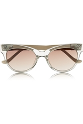 The Row Cat Eye Acetate And Leather Sunglasses