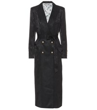 Blaze Milano Silk Jacquard Blazer Dress Black