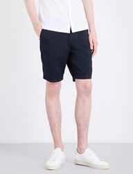 Boss Regular Fit Stretch Cotton Shorts Dark Blue