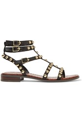 Sam Edelman Eavan Stud Embellished Leather Gladiator Sandals Black