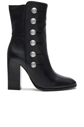 Balmain Button Bootie Black