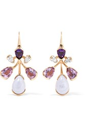 Fernando Jorge Corolla 18 Karat Rose Gold Multi Stone Earrings One Size
