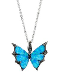 Stephen Webster Fly By Night Opalescent Quartz Bat Moth Pendant Necklace