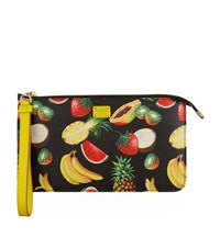 Dolce And Gabbana Flat Logo Pouch Female Black