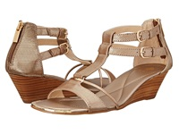 Isola Phoenix Satin Gold Women's Wedge Shoes