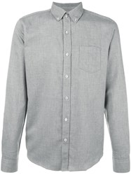 Closed Melange Button Down Shirt Grey
