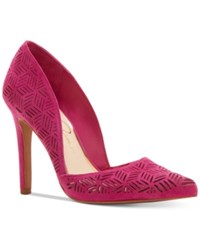 Jessica Simpson Charie D'orsay Dress Pumps Women's Shoes Pink Suede