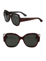 Saint Laurent Sl 133 53Mm Heart Print Butterfly Sunglasses Black Red