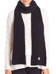 Moncler Ribbed Wool Scarf Black