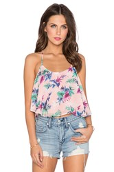 Lucca Couture Tropical Halter Top Pink