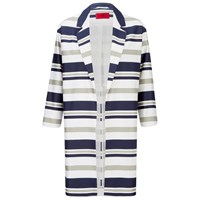 Hugo Women's Micola Striped Coat Multi