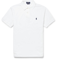 Polo Ralph Lauren Slim Fit Cotton Pique Polo Shirt White