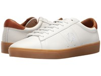Fred Perry Spencer Tumbled Leather White White Men's Shoes