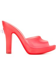 Melissa Jeremy Scott 'Inflatable' Mules Red
