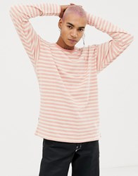 Fairplay Long Sleeve Striped T Shirt In Pink