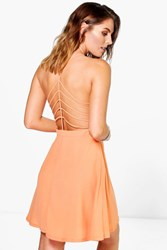 Boohoo Strap Back Detail Woven Dress Mandarin