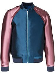 Private Policy Raw Edge Bomber Jacket Pink Purple