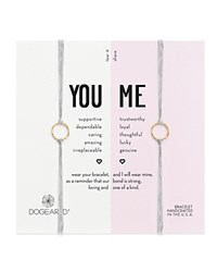 Dogeared You And Me Friendship Bracelets Set Of 2 Pebble