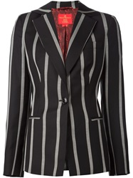 Vivienne Westwood Red Label Striped Blazer Black