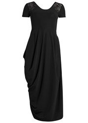 High Volta Black Jersey Dress