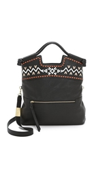 Foley Corinna Embellished Mid City Tote Black