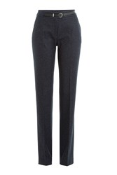 Hugo Straight Leg Pants With Virgin Wool And Silk Gr. De 32