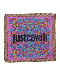 Just Cavalli Square Scarves Mauve