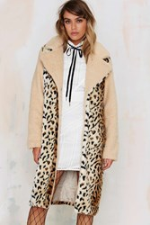Nasty Gal Spot Twist Shearling Coat
