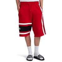 Givenchy Colorblocked Cotton Basketball Shorts Red