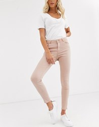 Vero Moda Shaping Zip Ankle Jeans Pink