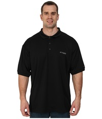 Columbia Perfect Cast Polo Extended Black Men's Clothing