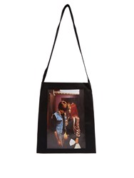 Raf Simons Christiane F. Denim Tote Bag Black Multi