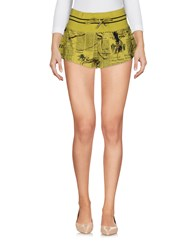 Galliano Shorts Acid Green