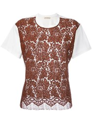 Erika Cavallini Lace Panel T Shirt White