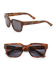 Raen Gar 54Mm Rectangular Sunglasses Tortoise