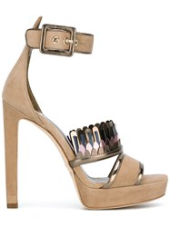 Jimmy Choo Ankle Strap Sandals Nude Neutrals