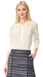 Jason Wu Long Sleeve Blouse Chalk