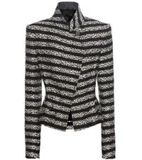 Haider Ackermann Metallic Tweed Jacket Black