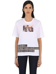 Burberry Photo Print Cotton Jersey T Shirt White