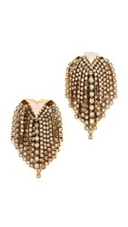 Elizabeth Cole Sicily Earrings Golden Crystal